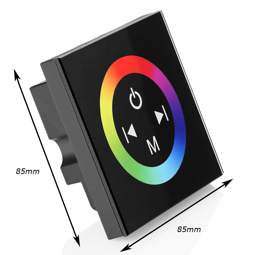 touch wand einbau led rgb strip controller steuerung 12v 24v schalter dimmer ebay. Black Bedroom Furniture Sets. Home Design Ideas