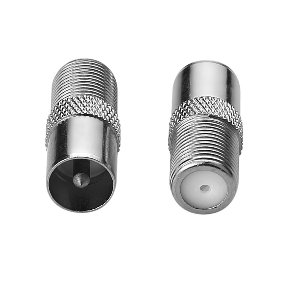 20x koax koaxial adapter iec stecker sat f buchse verbinder kupfer version ebay. Black Bedroom Furniture Sets. Home Design Ideas