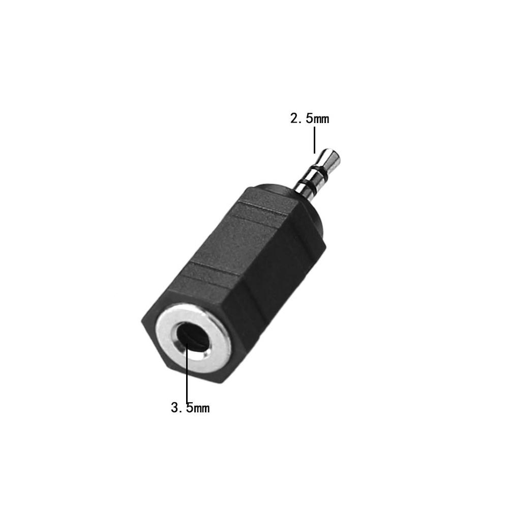 5x headset audio adapter von 3 5 mm buchse auf 2 5 mm klinke stecker jack stereo ebay. Black Bedroom Furniture Sets. Home Design Ideas