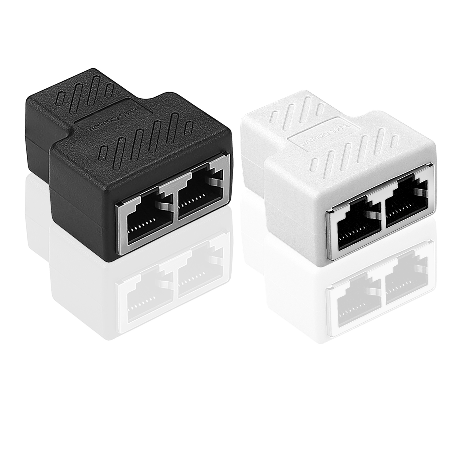 1 bis 2 lan ethernet netzwerk rj45 splitter extender stecker adapter stecker ebay. Black Bedroom Furniture Sets. Home Design Ideas