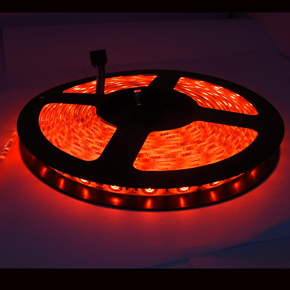 2x 5m rgb led strip band dimmbar indirekte beleuchtung. Black Bedroom Furniture Sets. Home Design Ideas