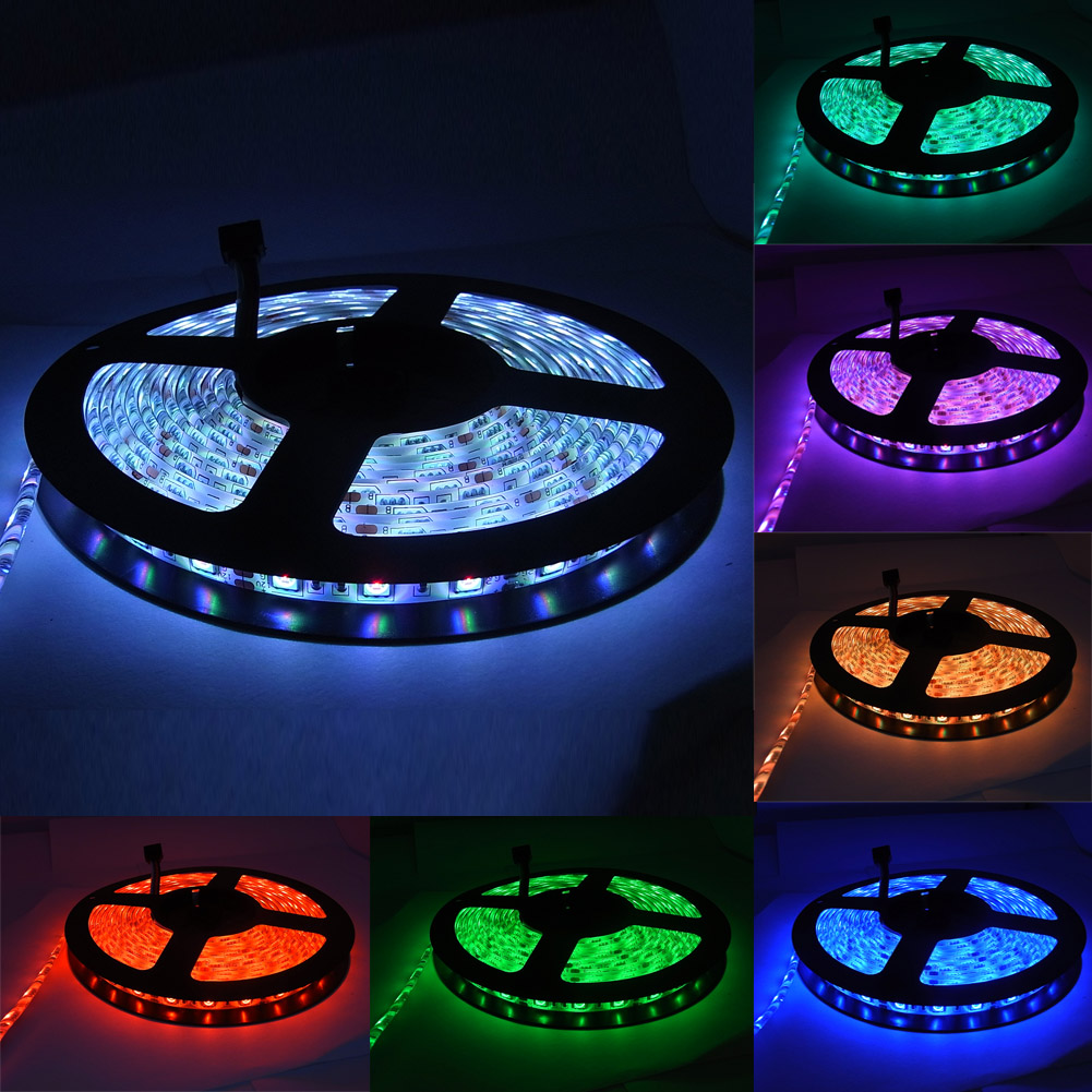5m 5050 smd 60led rgb band led strip lichterkette. Black Bedroom Furniture Sets. Home Design Ideas
