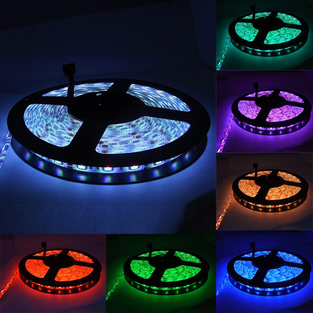 5m 5050 smd 60led rgb band led strip lichterkette. Black Bedroom Furniture Sets. Home Design Ideas