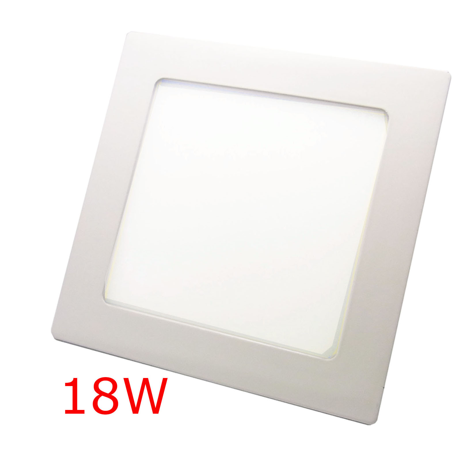 2x18w quadrat led panel einbaustrahler ultraslim lampe decken leucht white wei ebay. Black Bedroom Furniture Sets. Home Design Ideas
