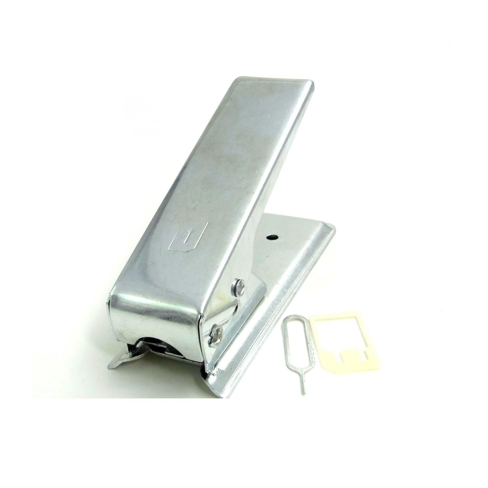 micro sim cutter karten stanze f r iphone 4 ipad adapter silver ebay. Black Bedroom Furniture Sets. Home Design Ideas