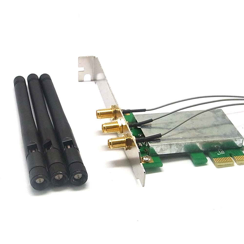 mini pci e zu auf to pci e wireless adapter w 3 antenne wifi rf win7 64m ebay. Black Bedroom Furniture Sets. Home Design Ideas